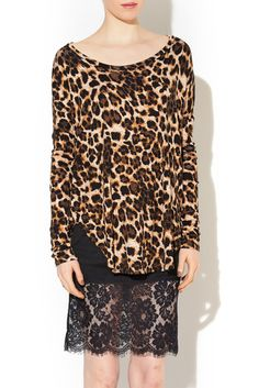 Animal Print Tunic - Cute & Comfortable top, Perfect to wear with leggings!