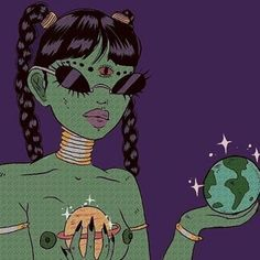 Find images and videos about art, grunge and aesthetic on We Heart It - the app to get lost in what you love. Arte Alien, Alien Art, Art Sketches, Art Drawings, Psychadelic Art, Stoner Art, Grunge Art, Cartoon Sketches, Hippie Art