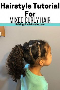 easy hairstyle for mixed girls.Cute, easy hairstyle for mixed girls. Cute, easy hairstyle for mixed girls. Mixed Race Hairstyles, Kids Curly Hairstyles, Baby Girl Hairstyles, Little Mixed Girl Hairstyles, Simple Hairstyles, Hairdos, Hairstyles Haircuts, Curly Hair Styles, Curly Hair Tips