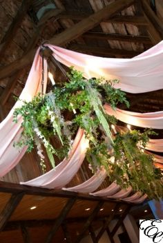 Draping and Hanging Spanish Moss and Greenery at the Carriage House at Magnolia Plantation | Photo by Taylor Stewart | Designed by Engaging Events
