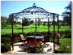 Wrought iron gazebos usually have a powder-coated aluminum finish. Description from dallas-5669-32.buyphafaihuahin.biz. I searched for this on bing.com/images
