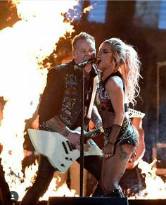 Metallica and Lady Gaga on Grammy 2017  Saw them at the grammys ... way better than I expected!