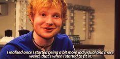 """Don't pressure yourself to conform to what's """"normal."""" 