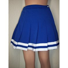 Christmas Cheerleader Royal Navy Aqua Blue Red Black Purple Pleated... ($26) ❤ liked on Polyvore featuring black, suits and women's clothing