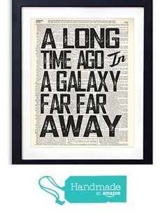 A Long Time Ago Quote Typography Vintage Dictionary Art Print 8x10 from Vintage Book Art Co.