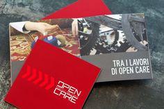 Open Care    Cliente: Open Care    Anno: 2011    Progettazione della brochure aziendale, che illustra i servizi offerti: caveau, conservazione e restauro, trasporti e logistica per l'arte, art consulting e spazi per l'arte.