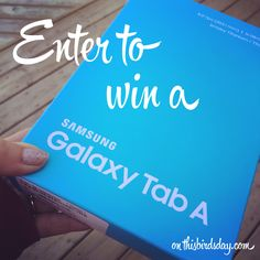 Enter to win a Samsung Galaxy Tab A Samsung Galaxy, Canadian Contests, Netflix Free, Enter To Win, Live Life, Giveaways, Karma, Day