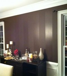 flat and high gloss striping...love this for dining room...not this color but I love the stripe technique