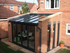 KLG Rutland is a Midlands-based supplier of windows, doors & conservatories with over 40 years of experience in delivering outstanding home improvements. Lean To Conservatory, Conservatory Extension, Conservatory Design, Conservatory Dining Room, House Extension Plans, House Extension Design, Rear Extension, Brick Design, Patio Design