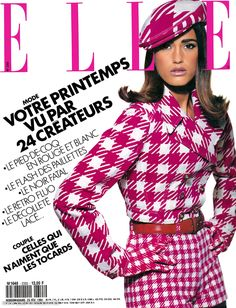 Cover with Yasmin Le Bon February 1991 of FR based magazine Elle France from Lagardère Group including details. Fast Fashion Brands, 80s And 90s Fashion, Pink Fashion, Vintage Fashion, Timeless Fashion, Fashion Models, Yasmin Le Bon, Fashion Magazine Cover, Fashion Cover