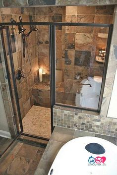 Bathroom decor for the master bathroom renovation. Learn master bathroom organization, master bathroom decor ideas, bathroom tile ideas, master bathroom paint colors, and more. Rustic Bathrooms, Dream Bathrooms, Beautiful Bathrooms, Master Bathrooms, Modern Bathrooms, Bathrooms Suites, Cabin Bathrooms, Luxury Bathrooms, Small Bathrooms
