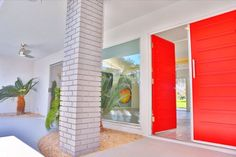 red doors in palm springs makes my heart sing! kelly golightly