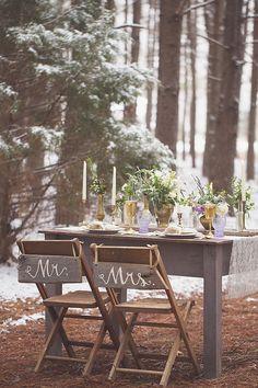 Magical Snow & Lavender Wedding Inspiration Shoot | Jenny Cruger