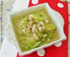 Minestra di verza e fagioli / cabbage and white beans soup. Italian and English language. Una ricetta con una nota esotica, Scoprite quale! Vegan recipe