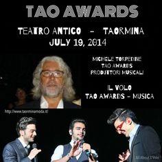 Il Volo and Michele Torpedine among the winners of the TAO Awards - Ceremony on July 19, 2014. @ilvolomusic TAO AWARDS Gala 19 luglio 2019: i protagonisti   //180