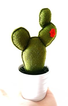 kaktus filcowy/z filcu/felt cactus/cactus diy/filcowe