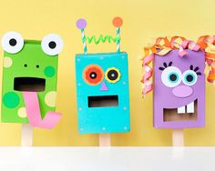 DIY Recycled Pasta Box Puppets
