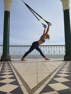 TRX Yoga practice run for Brighton Yoga festival