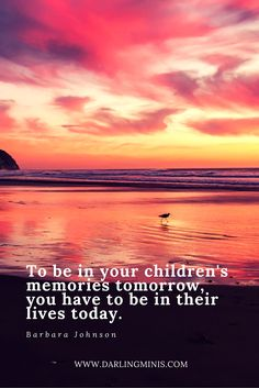 [quote] Be there for your kids, give them your presence, not more presents.