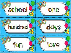 100th Day of School - Center Freebies (Limited Time Only) includes ABC Order, Parts of Speech Sort, and True/False Subtraction Problems