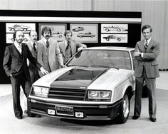 1979 Ford Mustang Mk3 Indy Pace Car — Ford Designer Jack Telnack (far right) poses with team members. — © Ford