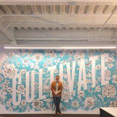 Incredible mural by @heykyle - #typegang - free fonts at typegang.com   typegang.com #typegang #typography