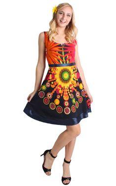 DESIGUAL SANZIBAR DRESS - 50V20M8 http://rockingboutique.com/collections/desigual/products/desigual-sanzibar-dress-50v20m8