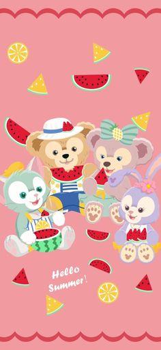 Disney Phone Wallpaper, Friends Wallpaper, Bear Wallpaper, Cool Wallpaper, Iphone Wallpaper, Duffy The Disney Bear, Friend Cartoon, Disney Rapunzel, Cute Cartoon Wallpapers