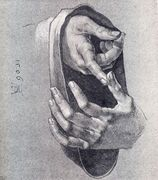 Boy's Hands - Albrecht Durer - www.albrecht-durer.org Artist Study , Inspiration and Resources for Art School Students and Mixed Media Artists on How to Draw Hands for CAPI ::: Create art Portfolio Ideas at milliande.com
