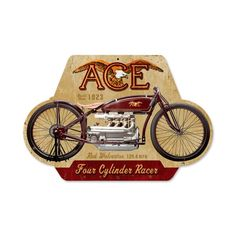 Vintage and Retro Wall Decor - JackandFriends.com - Retro Ace Metal Sign 17 x 12 Inches, $44.97 (http://www.jackandfriends.com/retro-ace-metal-sign-17-x-12-inches/)
