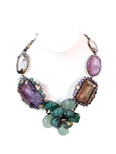 Iradj Moini - Amethyst and Fluorite #necklace #fashion #luxury