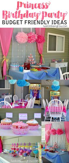 See how I put together this Princess Party for just $26! Click to read the details! Kid Party Favors, Diy Party, Princess Birthday, Princess Party, First Birthday Parties, Birthday Party Themes, Easy Party Decorations, Creative Party Ideas, Frozen Theme Party