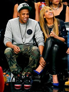 Lovers Beyonce and Jay-Z were all smiles at the Barclays Center