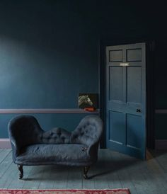 Deep blues are a softer alternative to black without losing the impact