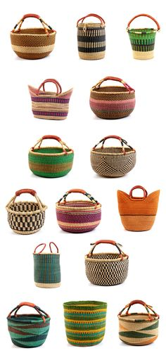 Africa | Great collection of Bolga Baskets from Ghana | Image © Baskets of…