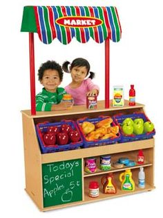 Bring pretend play to life with our super-realistic, kid-sized Lakeshore Market!