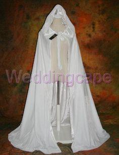http://www.weddingcape.com/monthly-specials-for-september/white-wedding-cape-hooded-cloak-white-satin-velvet-christmas-cloak-wicca-sca-h123.html