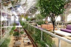Worldwide sustainability cooperative Except has renovated an abandoned shipyard in Amsterdam, transforming it into an energy-neutral office space filled with lush vegetation. Read more: Abandoned Warehouse to Be Transformed into Lush Zero-Energy Office Space in Amsterdam Crystal Forest Office – Inhabitat - Sustainable Design Innovation, Eco Architecture, Green Building