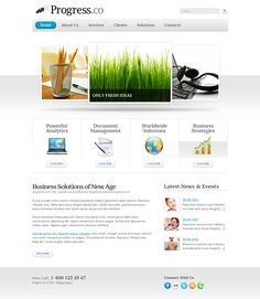 Business Progress Joomla Template by Html5 Web Templates