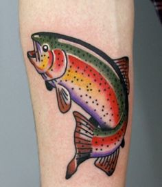 The colors! Traditional style fish tattoo