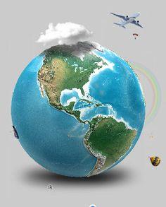 Free Earth #prezi template from Prezibase.com