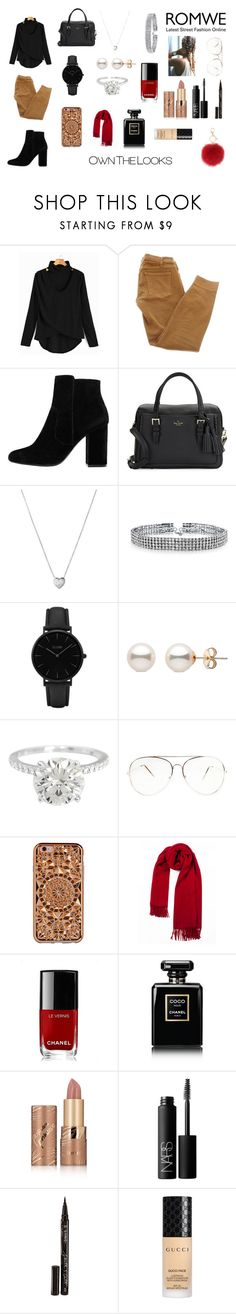 """""""Sans titre#166"""" by musicloverj1 ❤ liked on Polyvore featuring Current/Elliott, MANGO, Kate Spade, Links of London, Bling Jewelry, CLUSE, Felony Case, Chanel, tarte and NARS Cosmetics"""