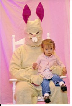 So We Went to the County Jail    And had our daughter take a picture with a criminal dressed as the Easter Bunny. Happy Easter!