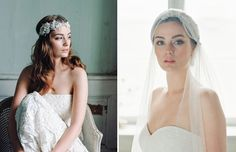 Romantic veil and beaded headpeice from the Jannie Baltzer 2015 Collection