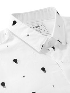 Christophe Lemaire for Bean Pole White Light Pattern Shirt