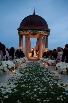 Wedding at The Resort Pelican Hill Newport Beach Gorgeous sunset ceremony at The Resort of pelican Hill.Gorgeous sunset ceremony at The Resort of pelican Hill. Muslim Wedding Ceremony, Wedding Ceremony Decorations, Decor Wedding, Sunset Wedding, Seaside Wedding, Wedding Pergola, Gazebo, Beautiful Wedding Venues, Dream Wedding