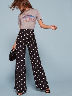 Power pants. This is a full length pant with a wide leg and a center back zipper. This style comes in petite sizes.