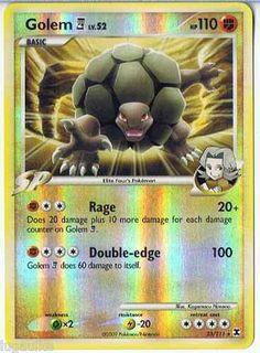Pokemon Card Rising Rivals Reverse Holo Rare Golem E4 23/111 FREE Combined Ship