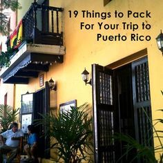 Planning a trip to Puerto Rico, but don't know what to pack? Check out this list.