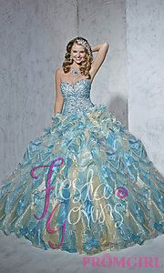 Buy Strapless Sweetheart Quince Gown by House of Wu at PromGirl